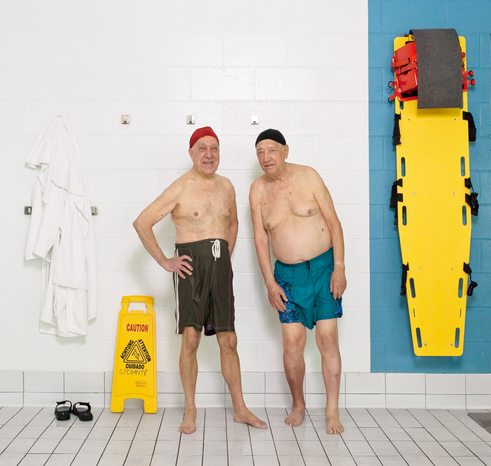 Old Friends  In this series, I documented the daily realities of the aquafitness participants at the Montreal Jewish Community Centre.For them, it is a shared experience of care and community that at times, wavers between the boredom of routine and the kindness, good humour and mutual support that accompanies growing old.
