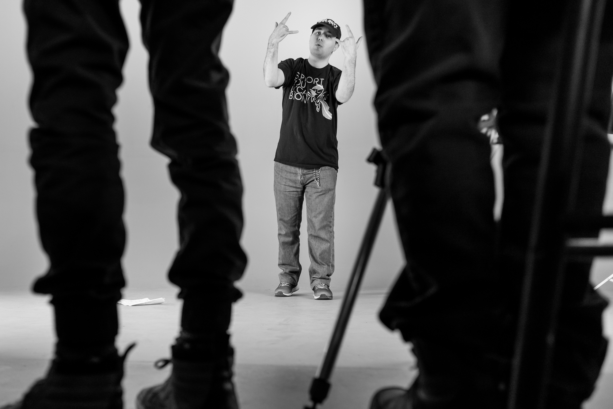Cory stands against a green screen while he is filmed engaging in a rap battle at Friday Night Social Club.  This was a new activity introduced at Social Club -- a program designed to emphasize fun and friendship through loosely structured activities.   In this photo essay I show youth on the autism spectrum engaged in programming at Spectrum Productions.   Spectrum Productions provides an opportunity for youth to gather together - they imagine, story board, write scripts, draw and create video while interacting with each other and with staff, something that is not always an easy task.
