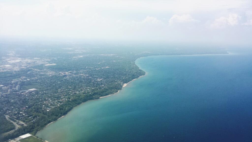 Milwaukee on the Coast of Lake Michigan