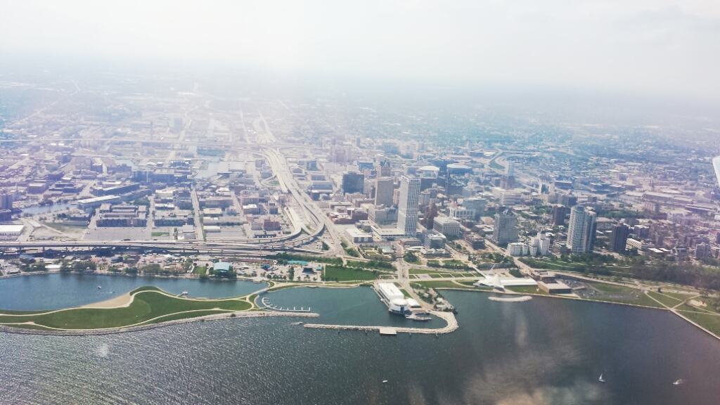 Milwaukee from the Plane