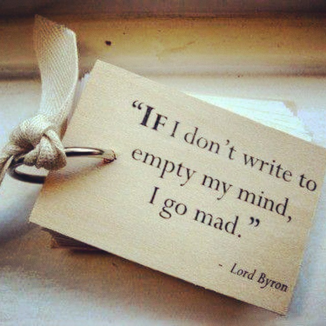 Lord Byron Writing Quote