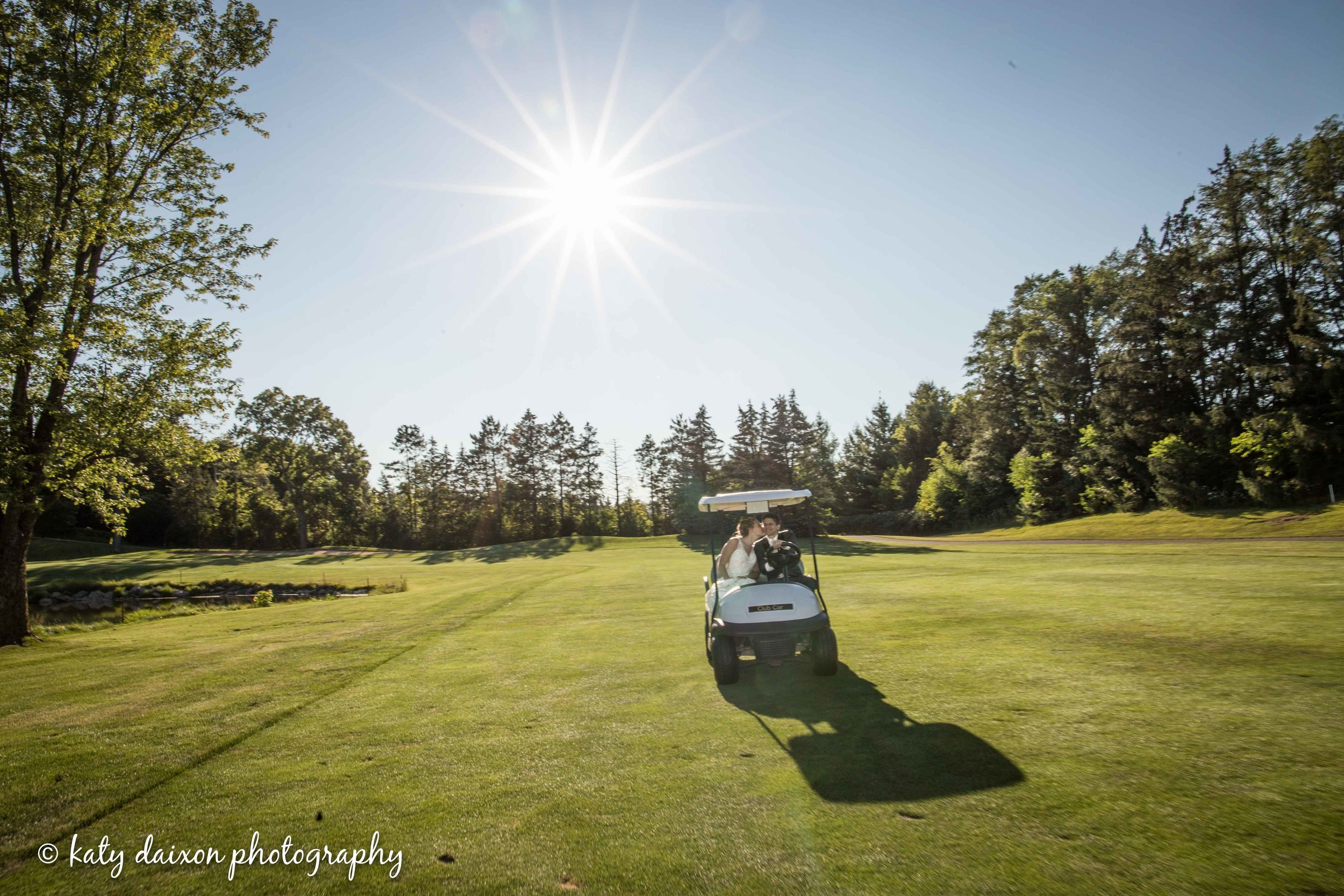 Cruisin' the Evergreen Golf Course grounds.
