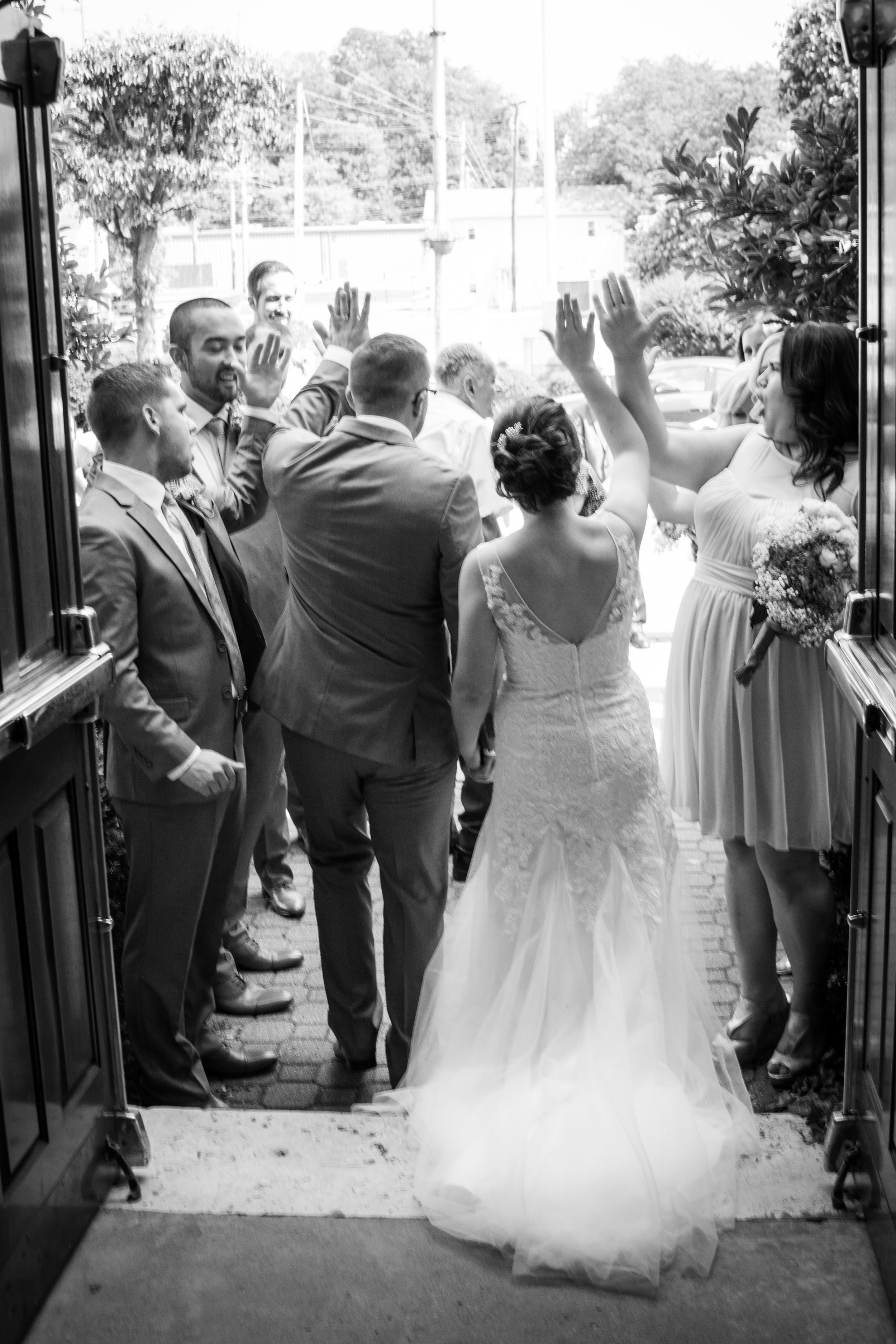 High fives for the lovebirds! Love this!