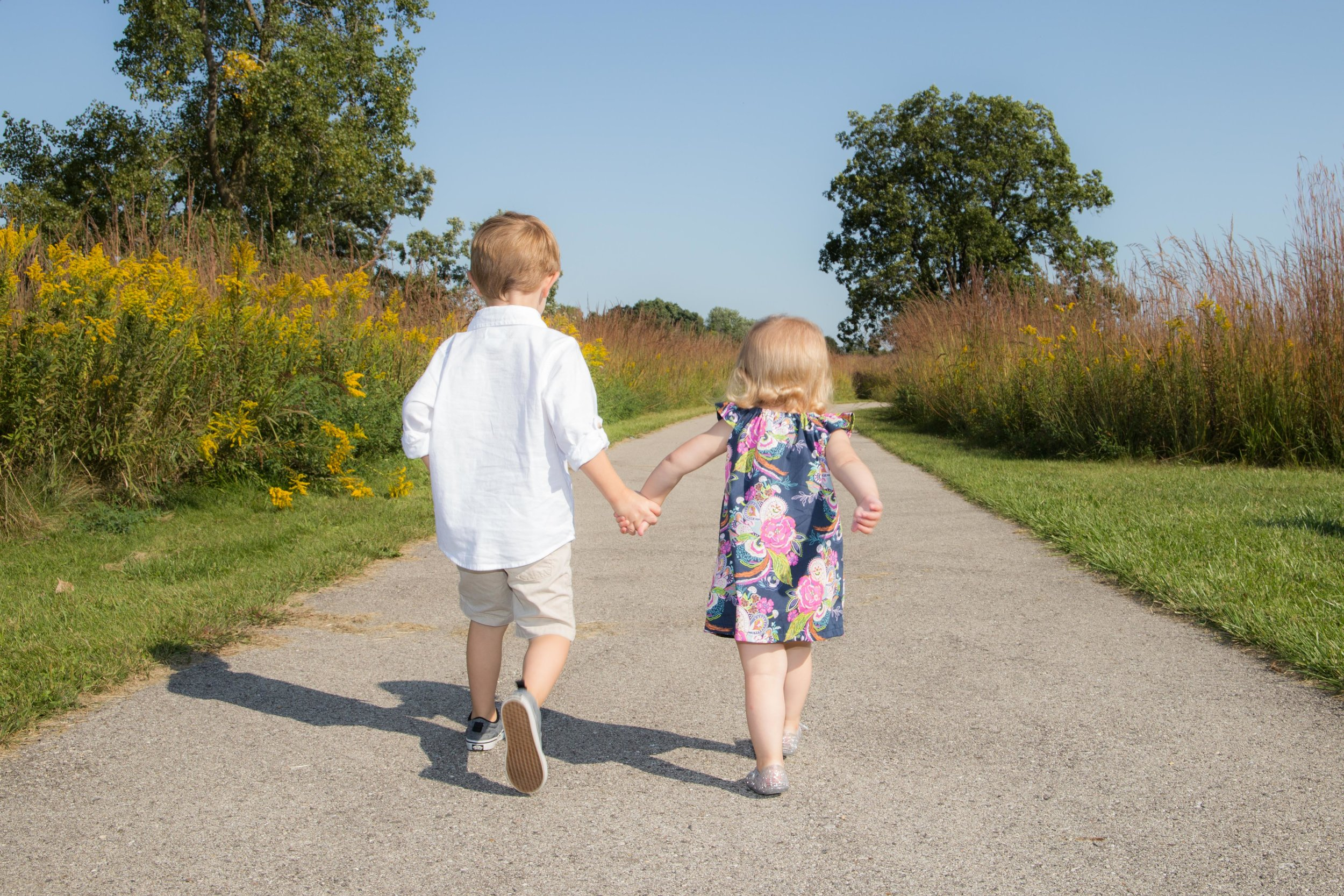 """I said, """"Griffen, walk with your sister!"""" And he grabs her hand! <3"""