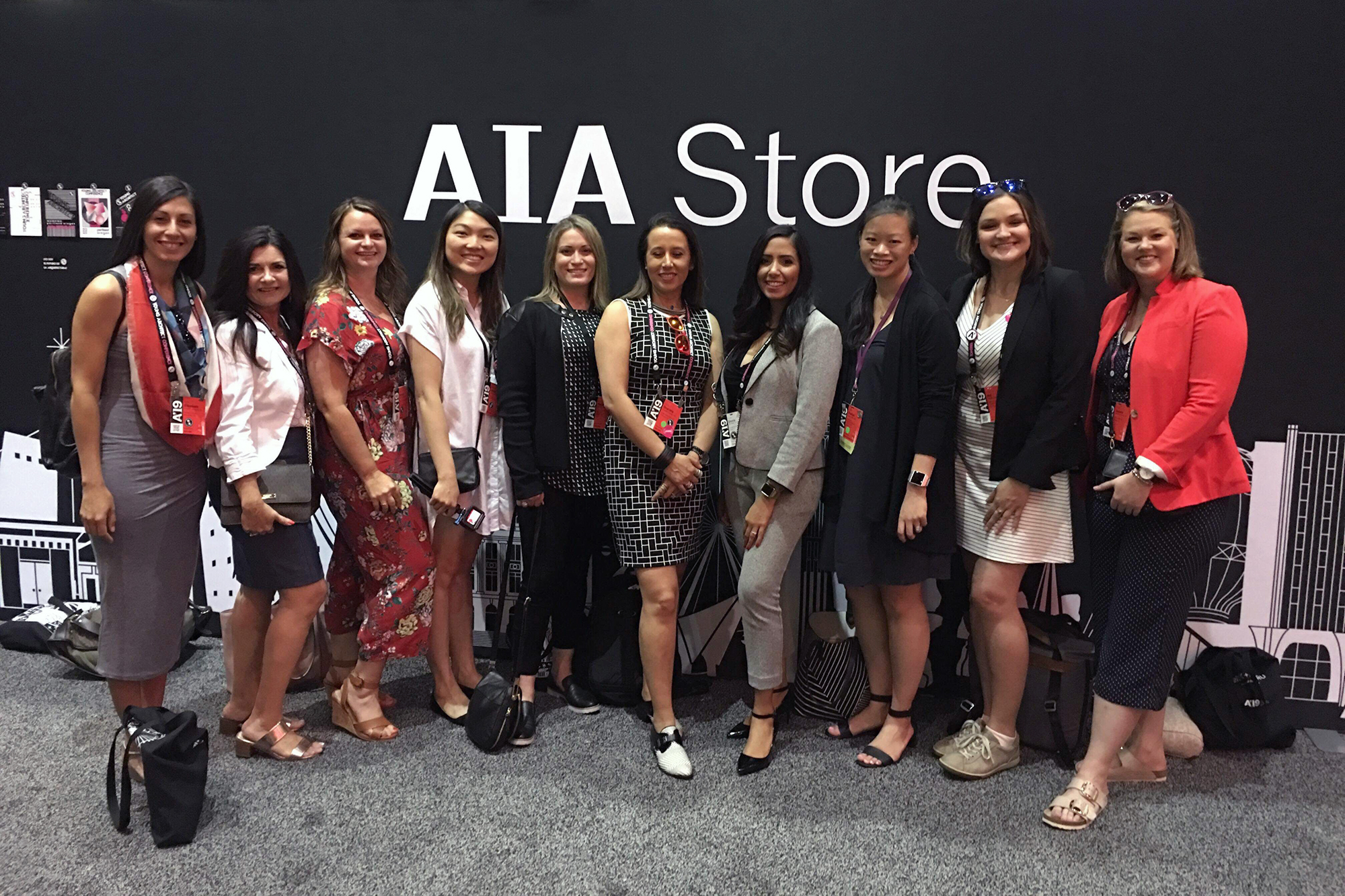 The Women Architect Collective meeting up at the AIA Conference.