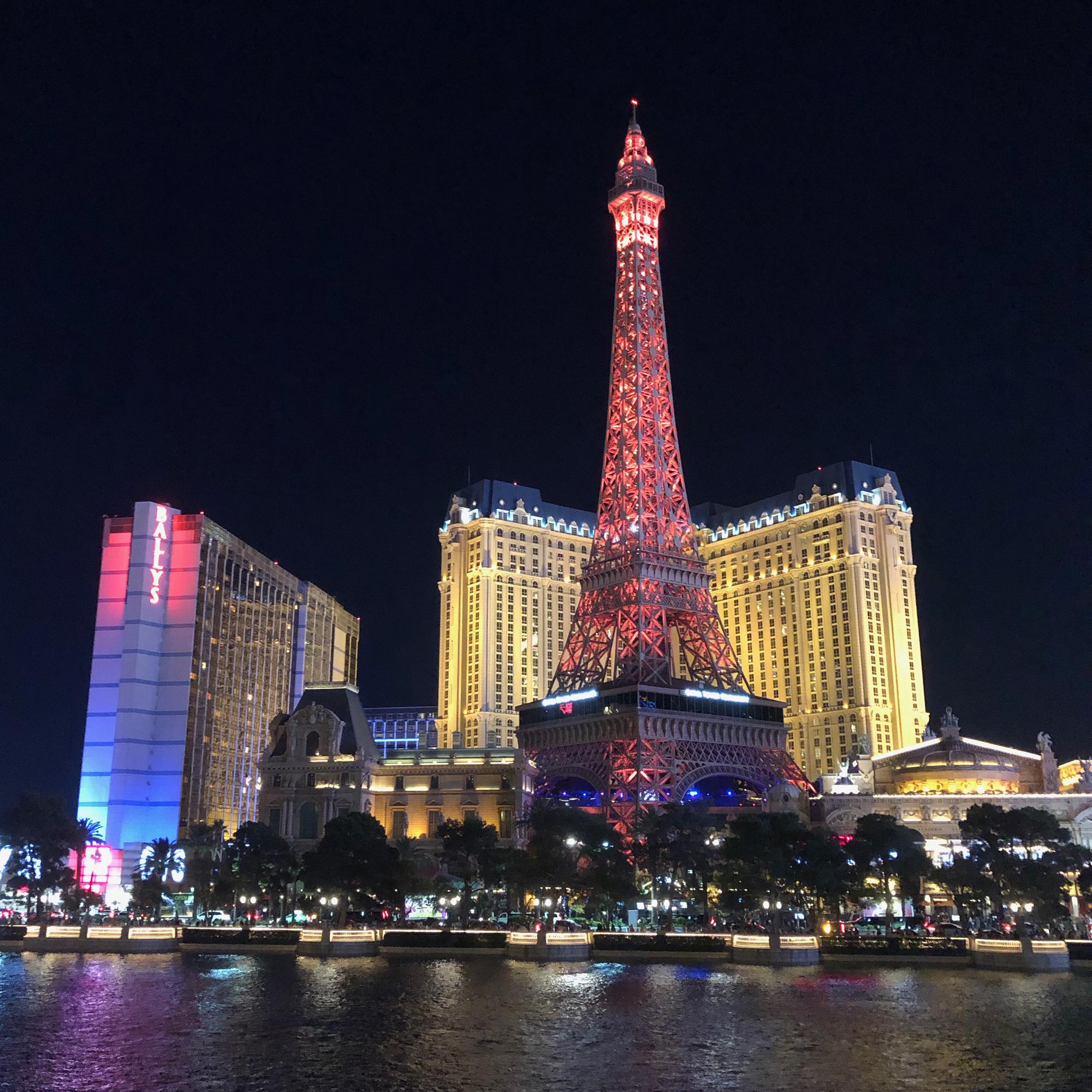 The night view of Las Vegas