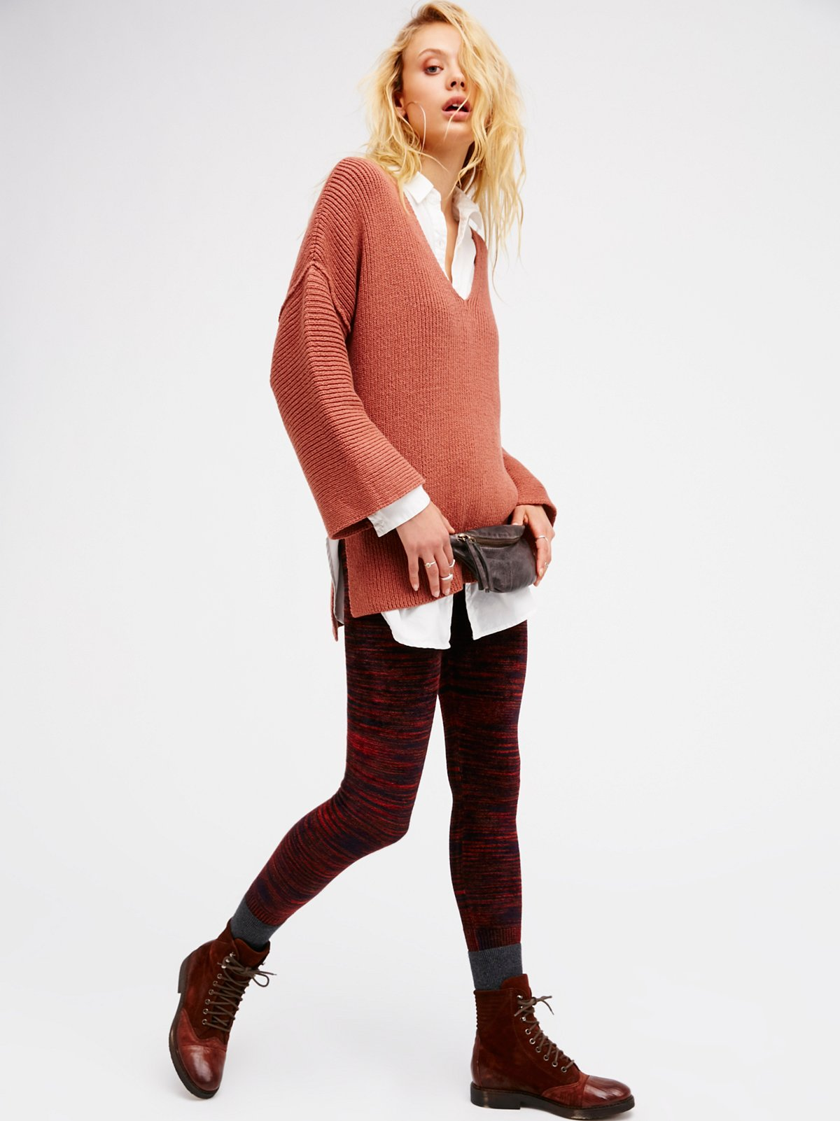 Free People Chenille Leggings