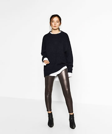 Zara Metallic Leggings