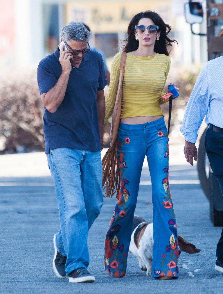 Amal Clooney's Flares Show Style Savvy Also