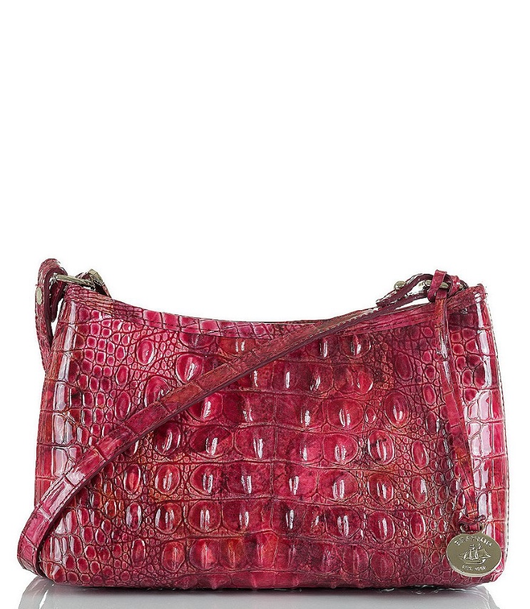 Brahmin Handback in Red Stamped Leather - Dillards