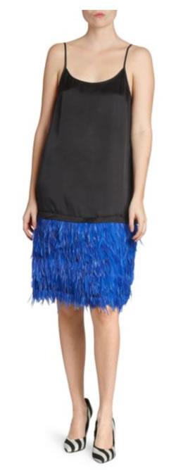 Dries Von Noten Feather Slip Dress - Saks