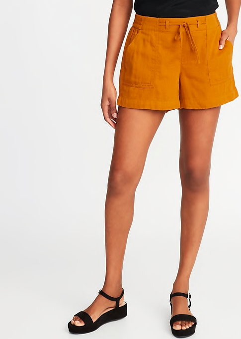 Mid Rise Cotton Twill - Old Navy