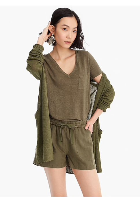 Point Sur Shorts in Loden Green - J. Crew