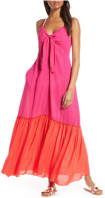 Elan Colorblock Maxi Dress at Nordstrom