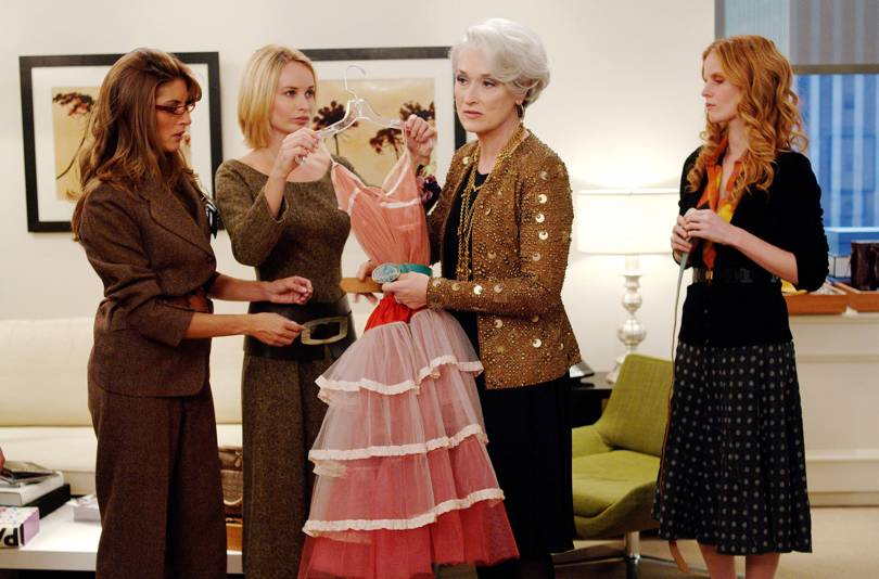 Miranda Priestly knows a thing or two about the right outfit at the right time! Credit - The Devil Wears Prada