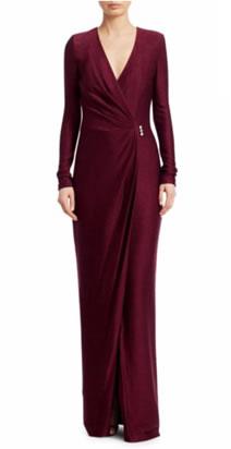 St. John Shimmer Wrap Gown - Saks