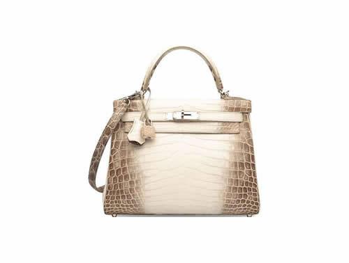Hermès White Crocodile Himalaya Kelly