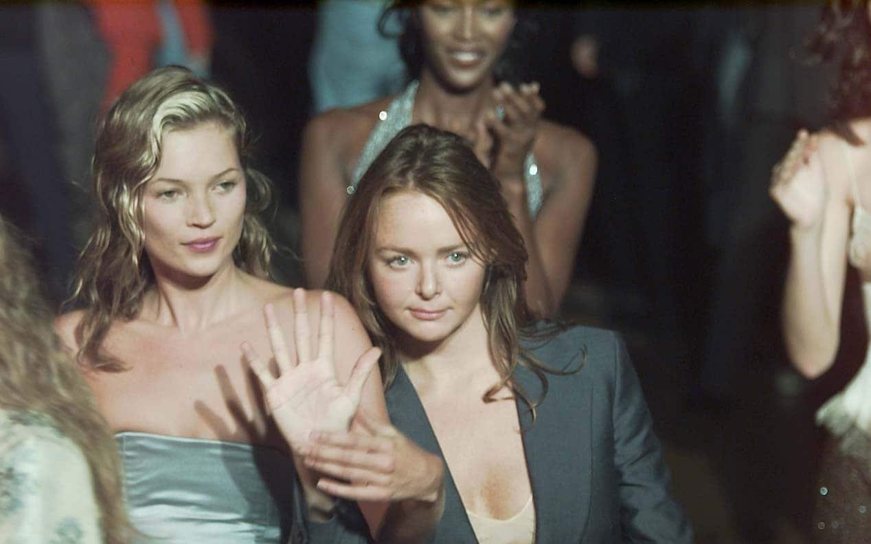 Kate Moss with Stella McCartney and Naomi Campbell in Background 1995