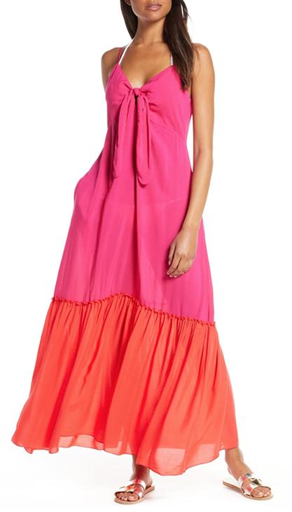 Colorblock Cover-Up Maxi Dress  ELAN - Nordstrom ($78)