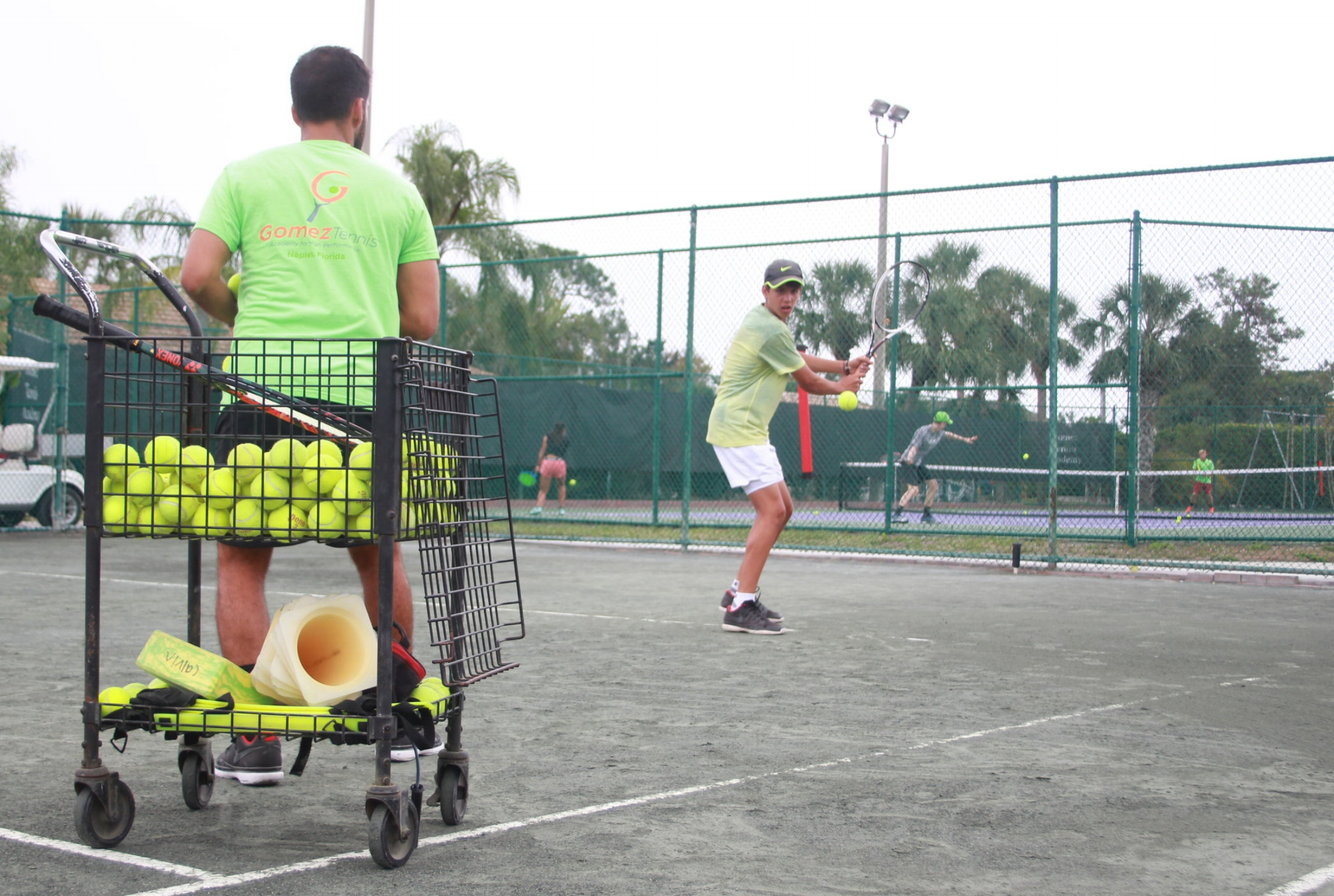 4:1 player to coach ratio - Our exceptional coaching staff works individually and in groups with no more than a 4:1 player to coach ratio, utilizing live ball practice, match play and drills, in addition to mental training and fitness.