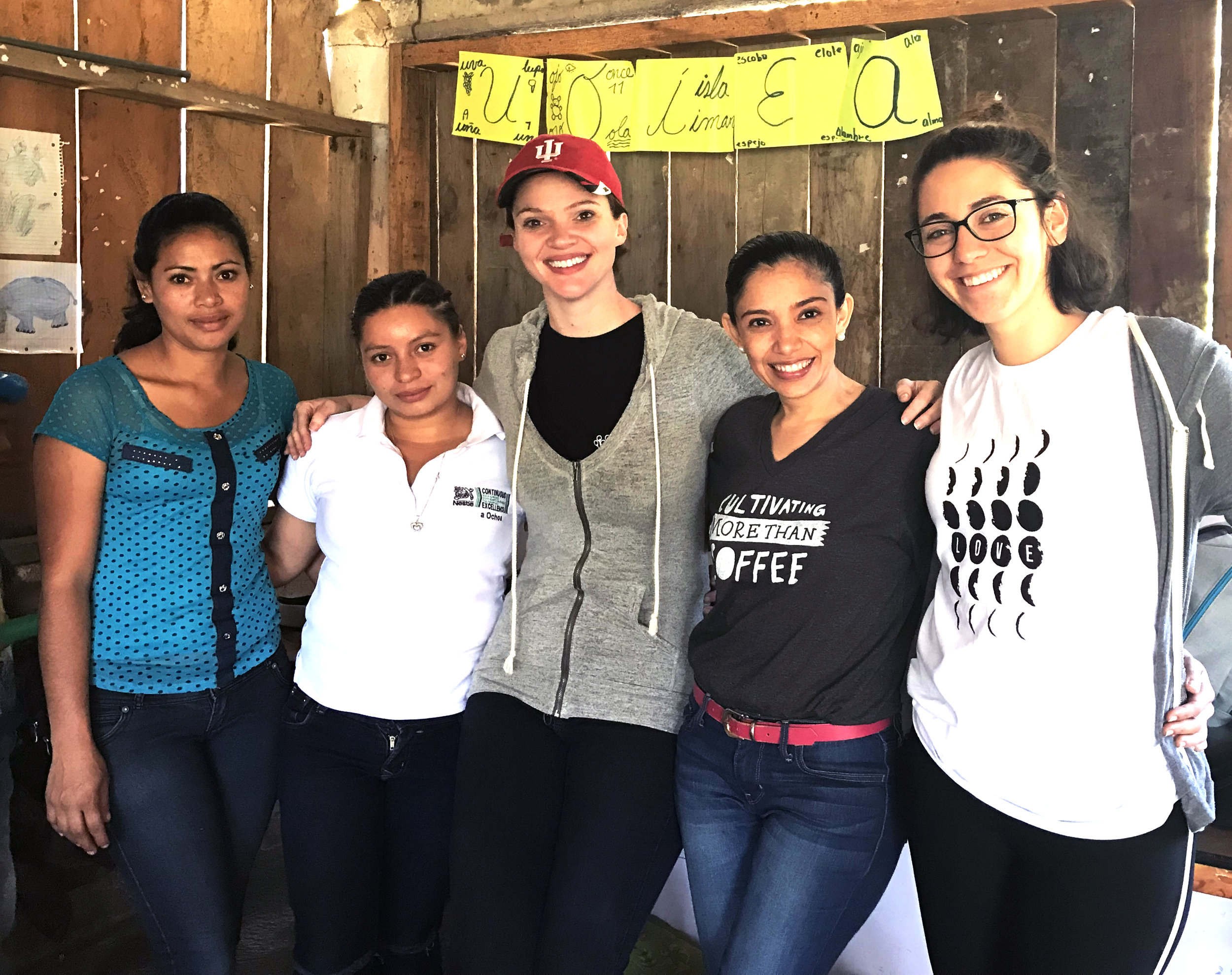 Facilitator Blanca Guido, Head Teacher Elizabeth Perez, CEO Kristin Van Busum, Country Director Amalia Castellanos, and Princeton Fellow Camila De La Vega have all been instrumental in implementing the eLearning program.