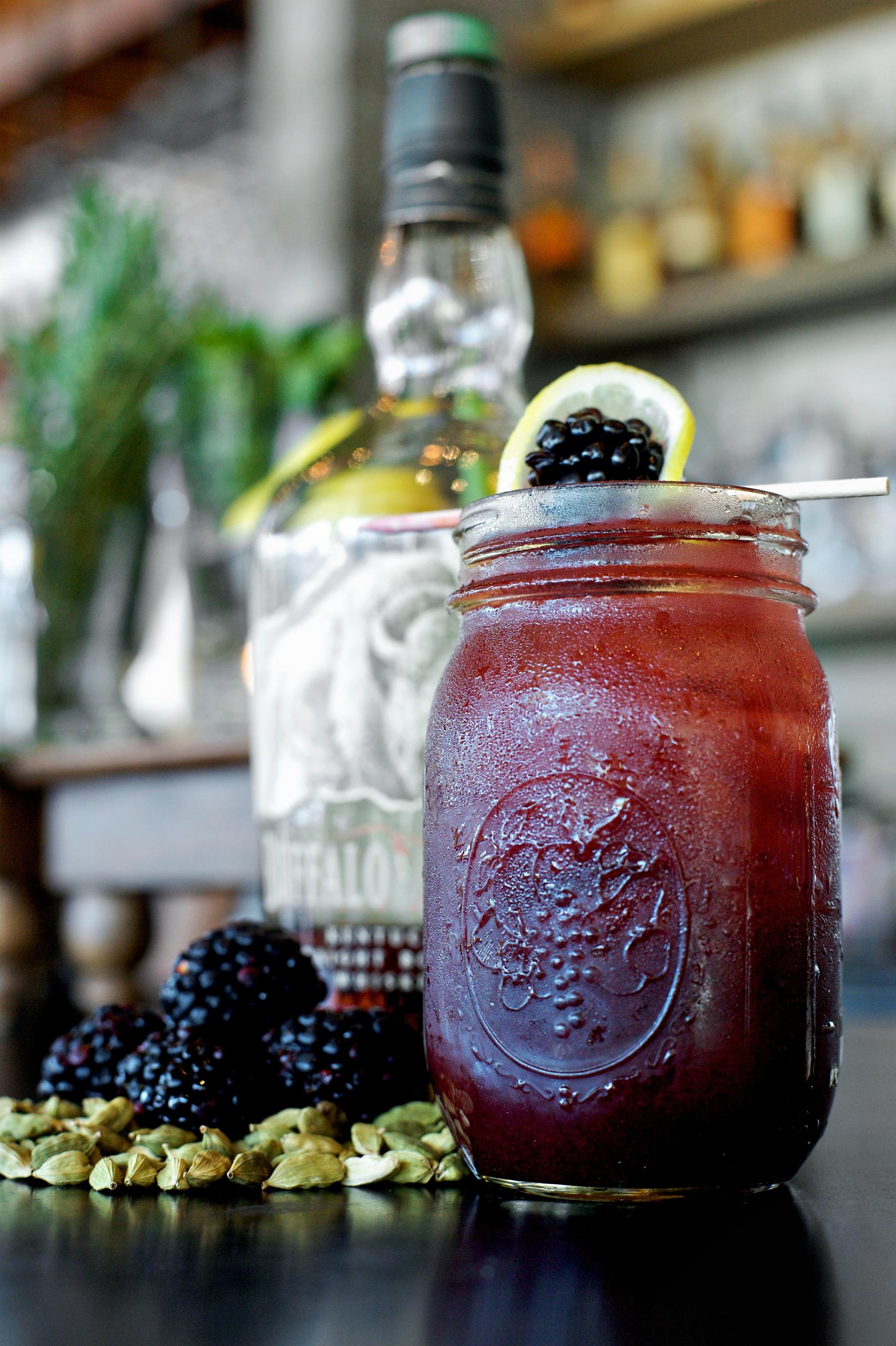 Blackberry Bourbon Lemonade at Yardbird Southern Table and Bar. Photo courtesy of Yardbird.