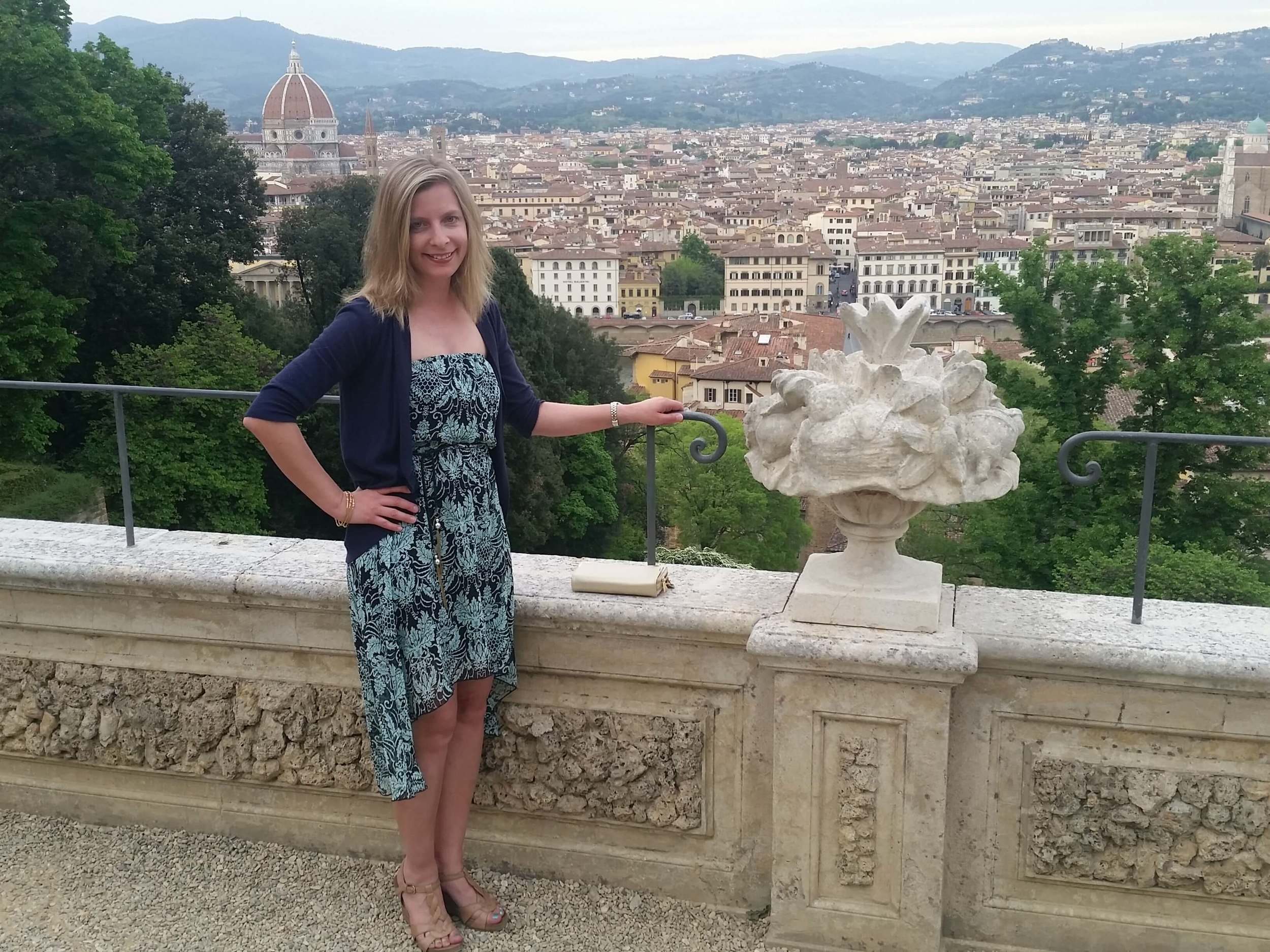 Overlooking Florence on the last night of a trip to Tuscany.