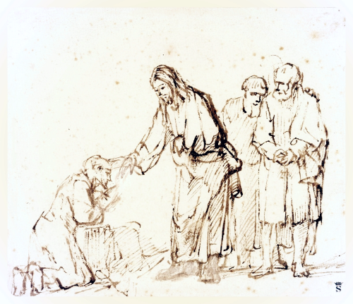 Christ Healing a Leper , by Rembrandt