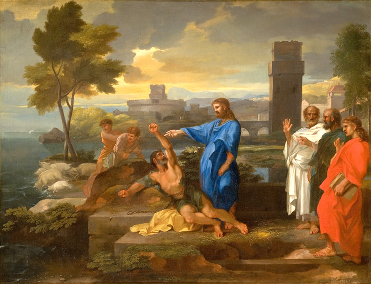 The Gerasene Demoniac  by Sebastian Bourdon (1653)