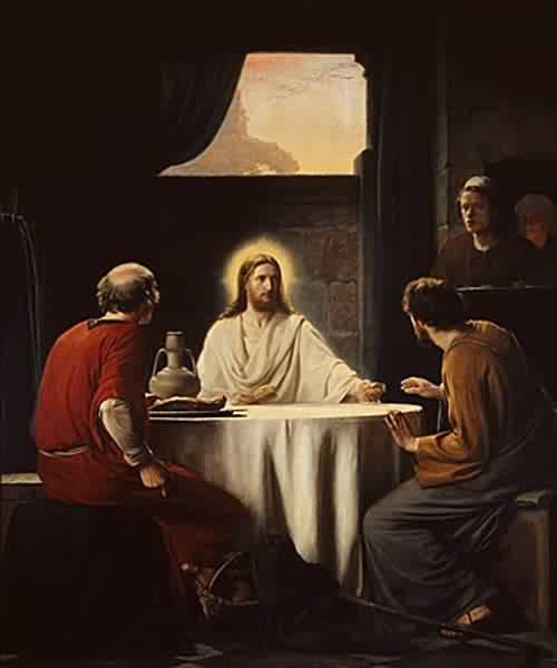 """""""Supper at Emmaus"""" by Carl Heinrich Bloch (1834-1890)"""