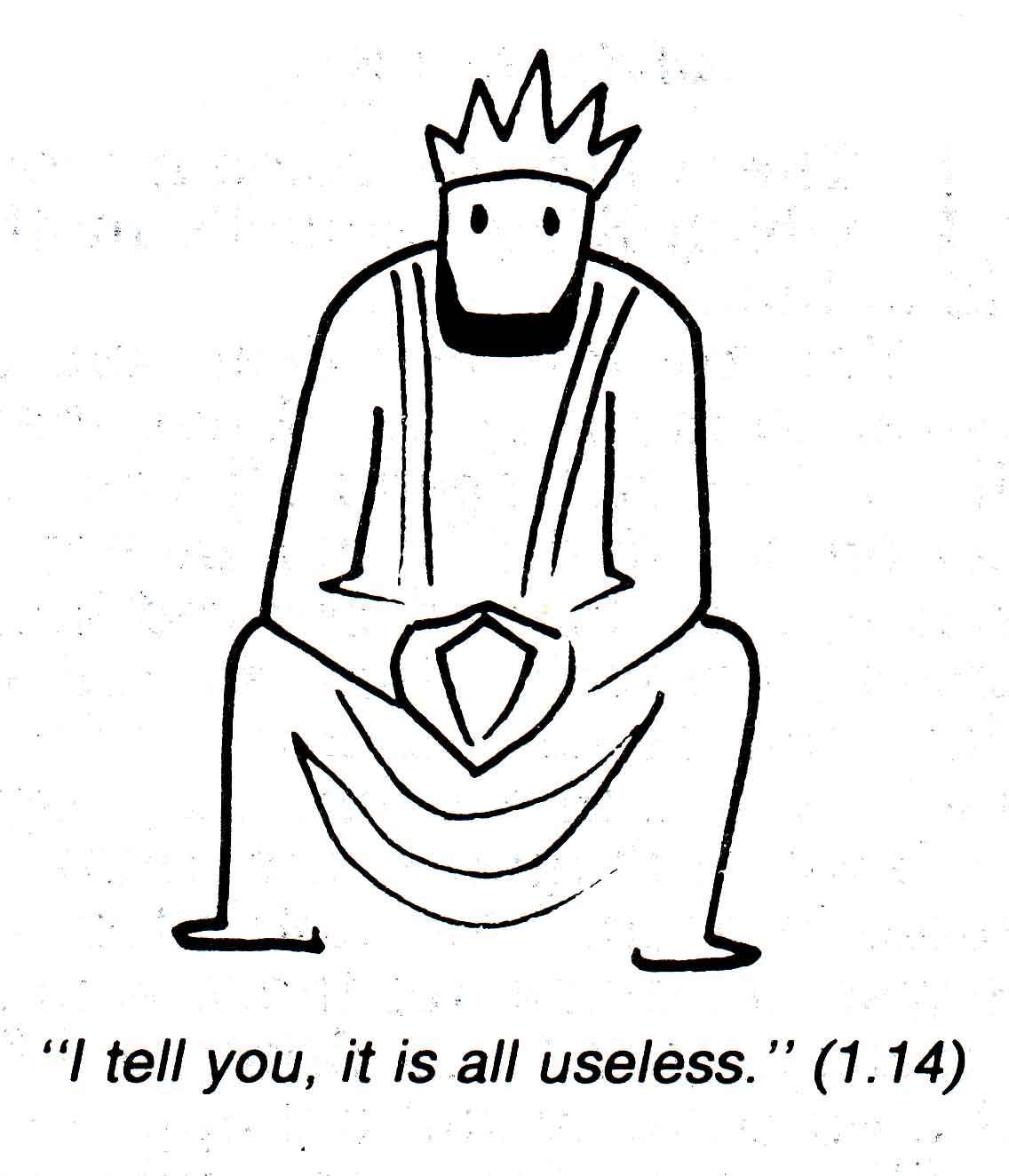 Another winner from Annie Vallaton's  Good News Bible  illustrations.