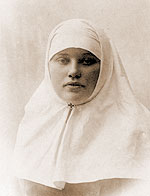 This is apparently a photo of Catherine in her nursing uniform. Catherine served as an army nurse on the front lines during the first World War.