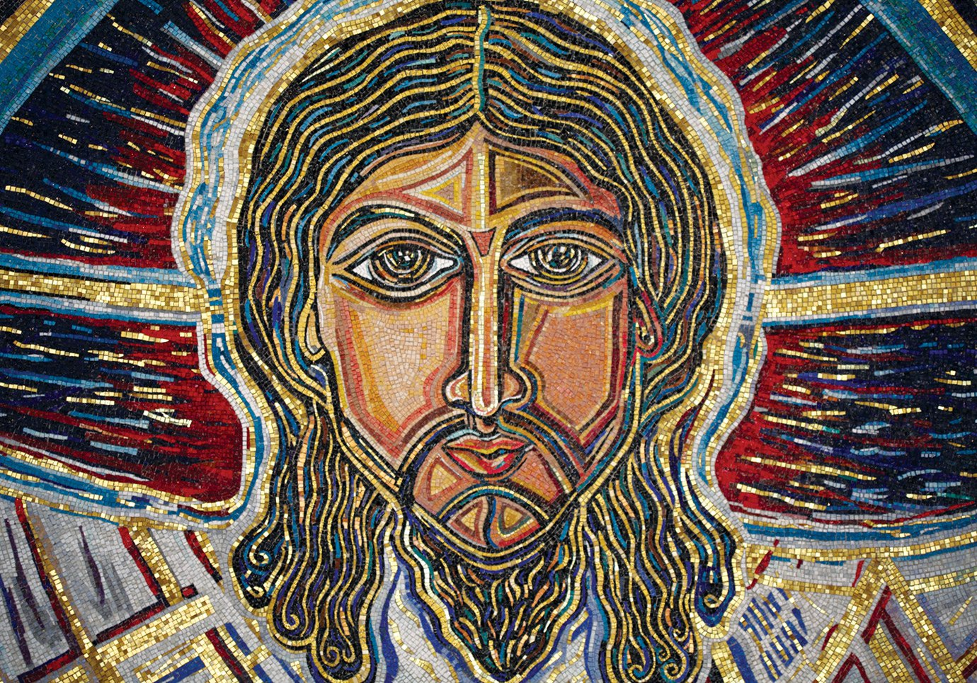 Mosaic of the Face of the Transfigured Christ, Church of the Transfiguration, Orleans, Massachusetts