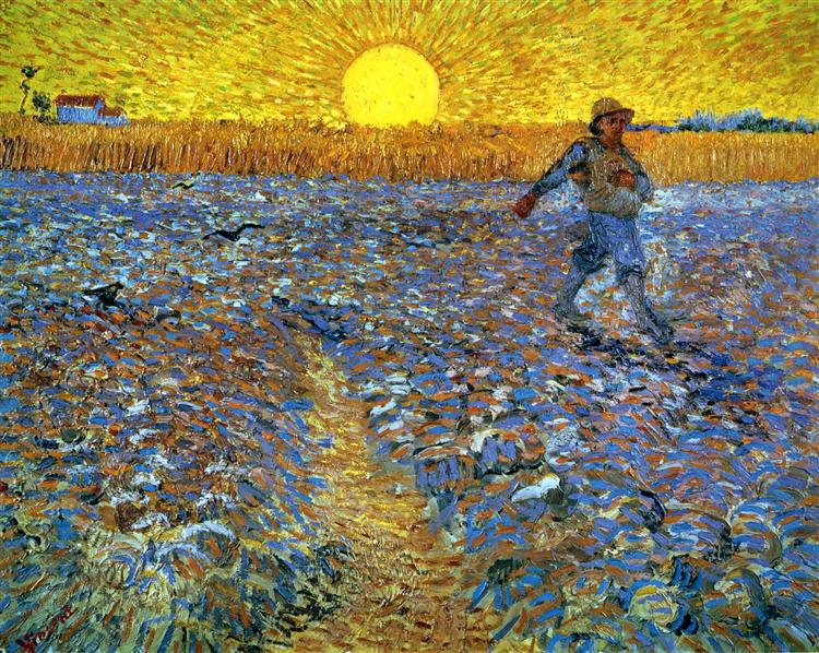 Van Gogh, The Sower with Setting Sun , 1888.