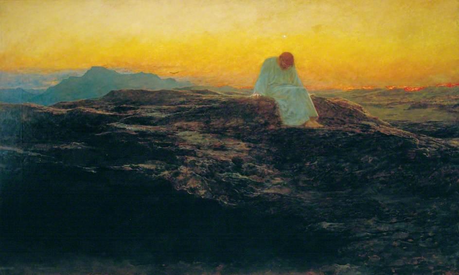 Briton Riviere,  The Temptation in the Wilderness , 1898