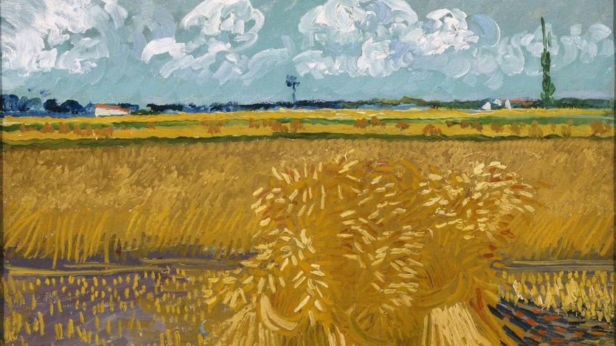 Van Gogh,  Wheat Fields with Sheaves, 1888.