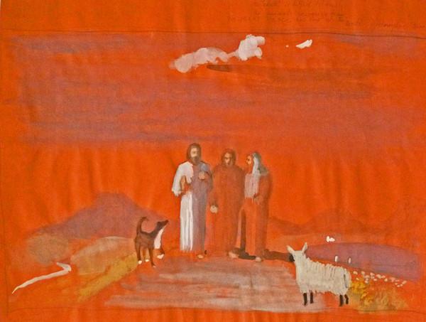 Frances Watt. Mixed media painting. Courtesy  Sacred Art Pilgrim .