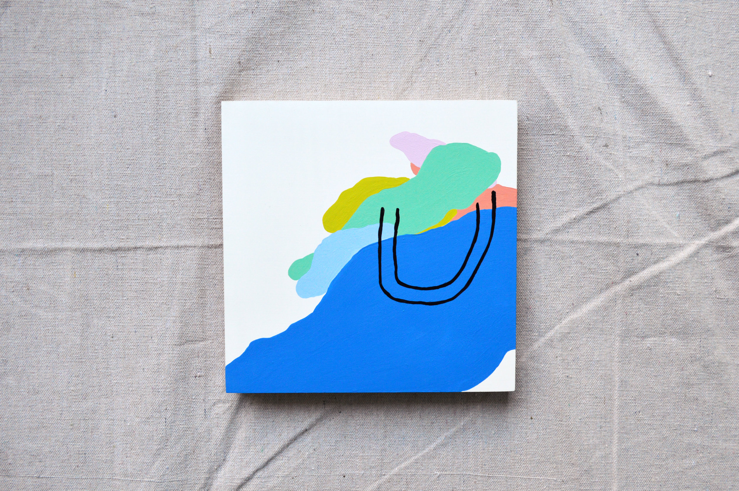 """Nuthin' But You  8"""" x 8""""  Paint on panel"""
