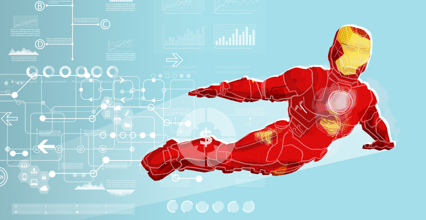 Iron Man illustration by Cognitive Media