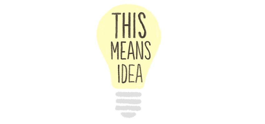 Light bulb means idea - illustration by Cognitive Media