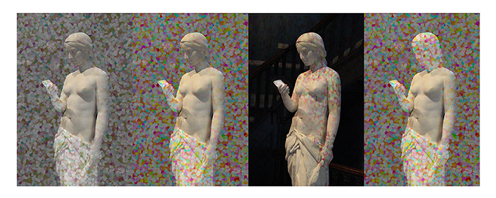 """The New Religion x 4, 2015 24x56"""" archival inkjet print. edition of 3 (and 2 AP)"""