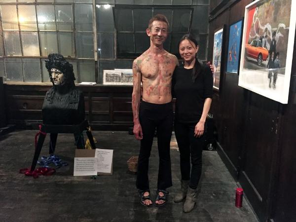 Gio Kusanagi and Jia Doughman at Fuchs Projects (Photo: Nicole Disser)