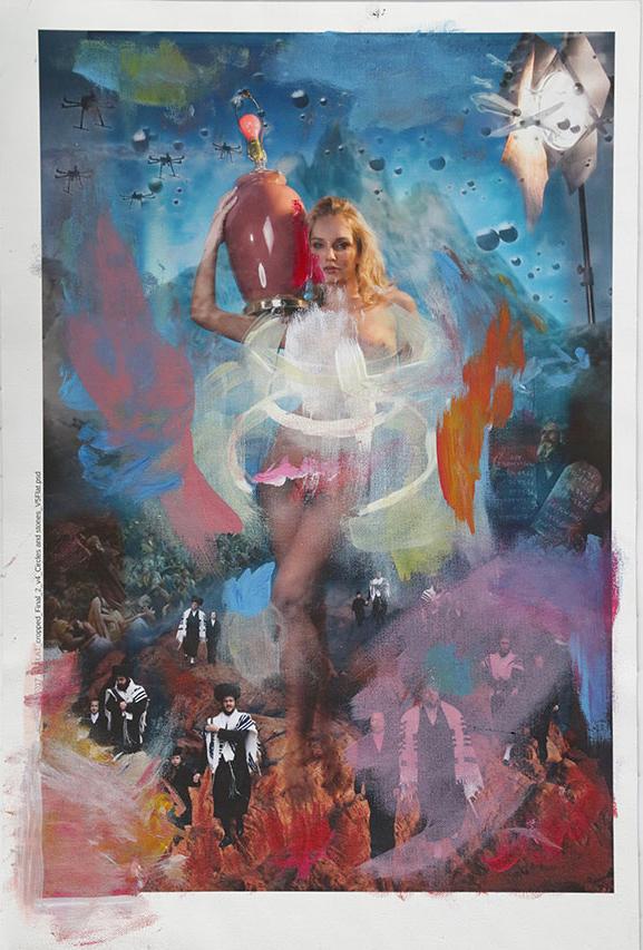 """The Golden Calf #3"" 2017 mixed media(sold)"