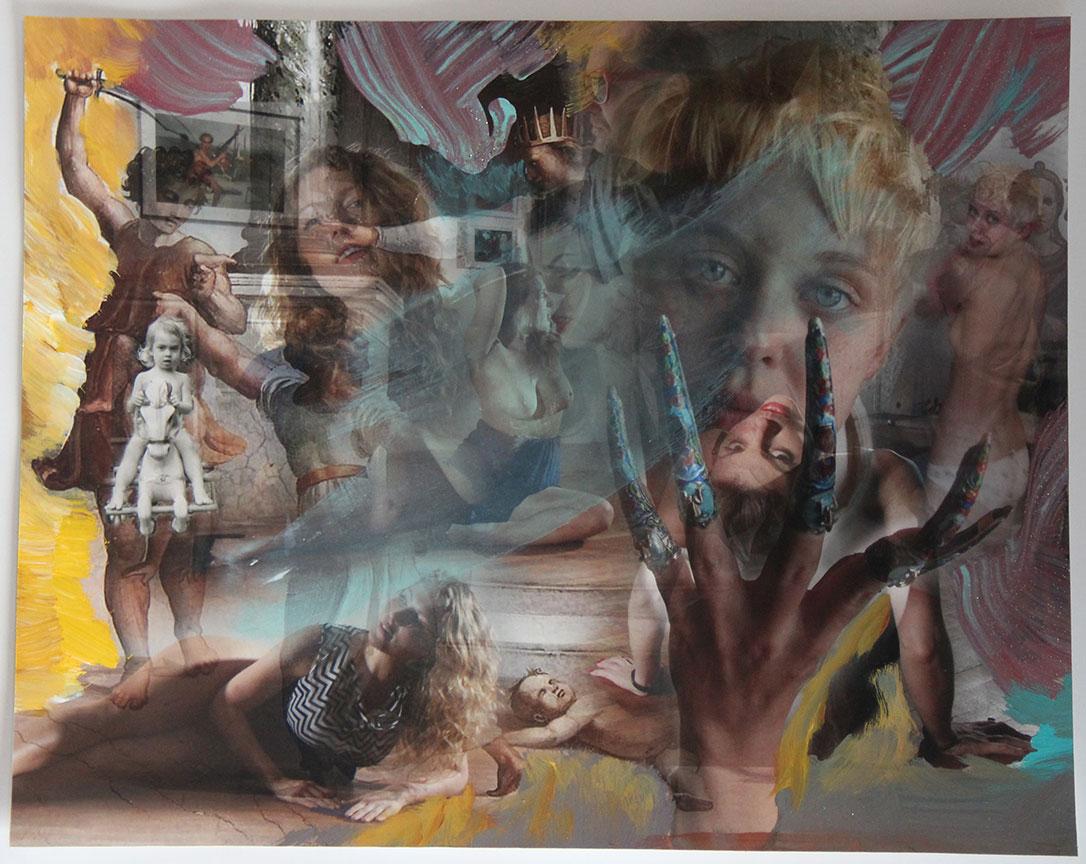 """Solomon Judgement #3"" 2017 mixed media (sold)"
