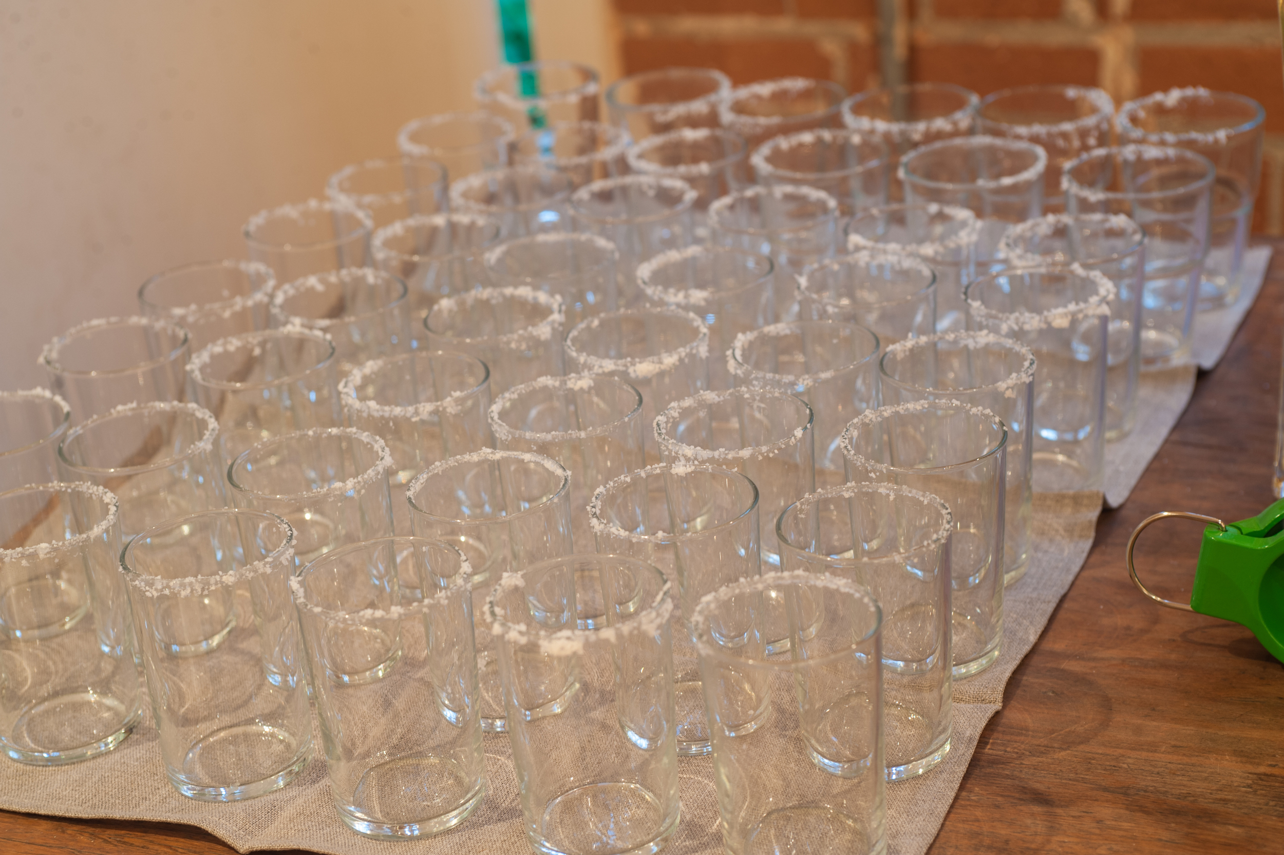 Sal de Margarita rimmed glasses for a party