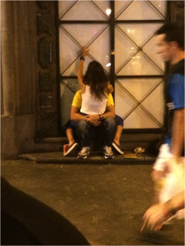 DON'T:    The PDA game is strong here and its pretty fun. We recommend the alleyways near the Plaza Dos del Mayo.