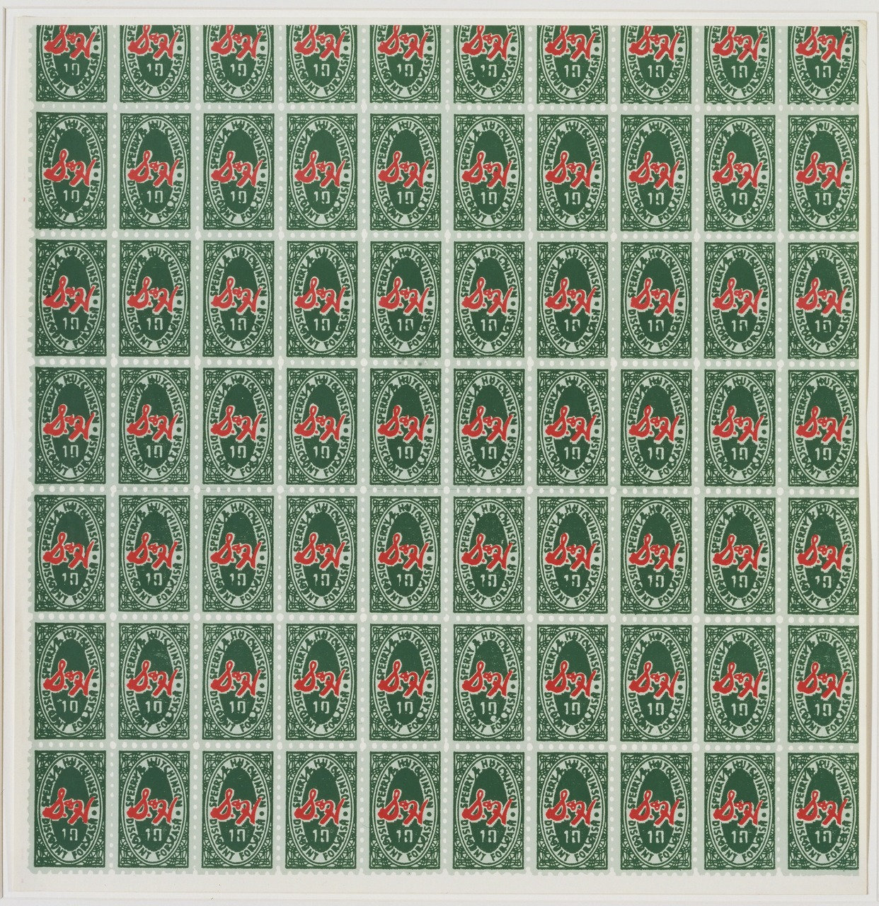 Andy Warhol,  S & H Green Stamps , 1965