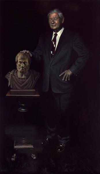 """The Honorable Bob Graham, Senator, Governor and Statesman: 72"""" x 42"""" Oil on Board"""