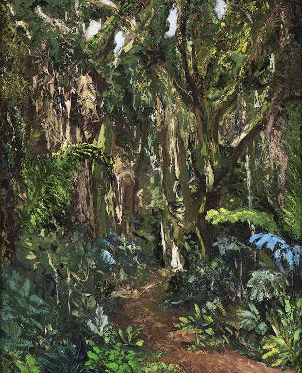 """Mombasa: 32"""" x 28"""" Oil on Canvas"""