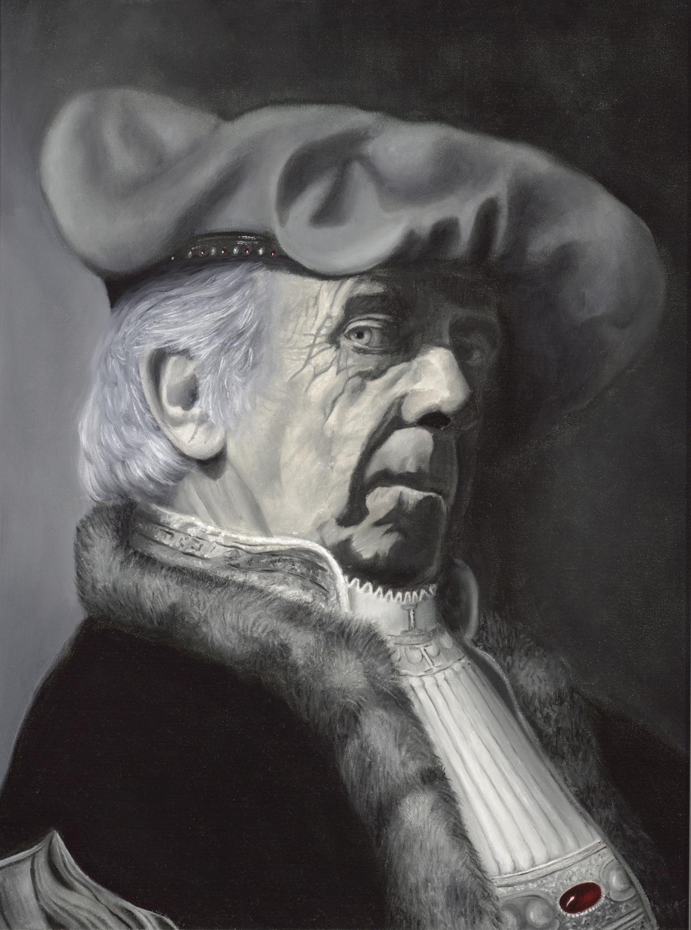 "The Merchant: 30"" x 24"" Oil on Canvas"